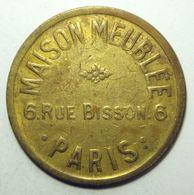 Paris - Maison Meublée 6 Rue Bisson - Jeton De Compteur à Gaz - Monétaires / De Nécessité