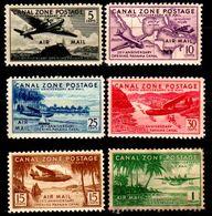 B43-Panama: Canal-Zone-Posta Aerea 1939 (++/sg) MNH/NG (Solo Il Dollaro è Senza Gomma) - Panama