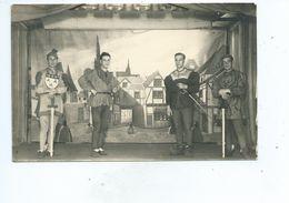 Prisonnier Belge Carte Photo Théâtre De Feuerstein Stalag IX C - WW II