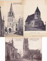 LOT 162 Cartes Postales Anciennes 14 X 9 Cm Sur Le Thême Des Eglises En France - Toutes Ont été Scotchées Sur Les Bords - Eglises Et Couvents