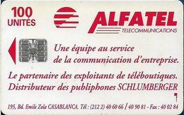 Morocco - Alfatel - Teleboutique Louban, Agadir, Cn. C44144747, SC7, 100Units, Used - Maroc