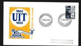 Denmark FDC 1965 UIT Centenary (G113-55) - Organizations