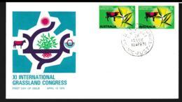 Australia FDC 1970 XI Int. Grassland Congress (G113-55) - Premiers Jours (FDC)