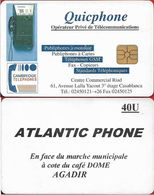 Morocco - Quicphone - Atralntic Phone, Agadir #2 (Without Phone Numb.), Chip Thomson, 40Units, Used - Marruecos