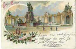 """Gruss Aus Berlin - 26.11.1900 - Kaiser Wilhelm Denkmal (gestempelt / Oblitération """"Tempelhof"""") - Altri"""
