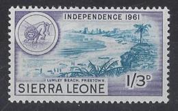 "SERRIA LEONE......QUEEN ELIZABETH II...(1952-NOW..)...."" 1961..""......1/3.......SG231.......MH... - Sierra Leone (1961-...)"
