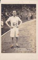 CARTE PHOTO JO DE 1924 LIDDEL RECORDMAN DU 400 METRES - Leichtathletik