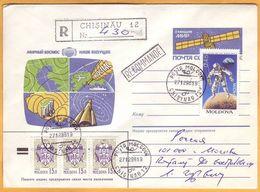 """1994 1996  Moldova Moldavie Moldau.used Peaceful Space. Station """"WORLD"""". Cover  Rocket. Europa-cept Used - Moldawien (Moldau)"""