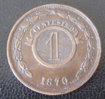 Paraguay - Monnaie 1 Centesimo 1870 - SUP - Paraguay