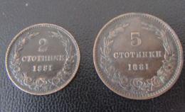 Bulgarie / Bulgaria - Monnaies 2 Et 5 Stotinki 1881 - TTB - Bulgarien
