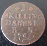 Danemark / Danmark - 1 Skilling Danske 1771 KM - Denemarken