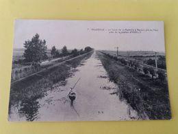 CPA 17- VILLEDOUX -7- LE CANAL DE LA ROCHELLE A MARANS PRIS DU PONT PRES DE LA STATION D'ANDILLY - France
