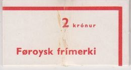 Faroe Islands 1975 First Booklet (cover Damaged, See Scan) ** Mnh (48447) - Färöer Inseln