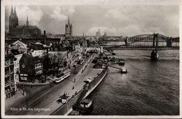 ! Alte Ansichtskarte Köln Am Rhein, Am Leystapel, Straßenbahn, Tramway, Brücken, 1933 - Koeln
