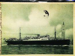 """Bateau Mixte Commerce (Cargo Cruiser Ship ) """"FILIPPO GRIMANI"""" Venezza Porto   1950s - Handel"""
