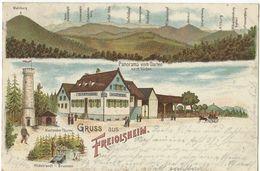 """Gruss Aus Freiolsheim (Gaggenau) Gasthaus Zum Löwen - 8.9.1902 - Stempel Aus / Oblitération De """"Völkersbach"""" - Andere"""