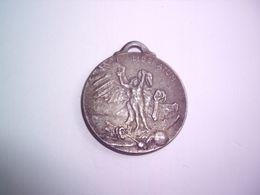 WW1 - 1914-18 - Médaille Liberatum Signée J.P. Laurens - Paris Art - Saint Michel  Terrasse Le DRAGON TEUTONIQUE - Professionnels / De Société