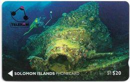 Solomon - Solomon Tel. - GPT - SOL-03 - 01SDB - Tao Maru Wreck, 20$, Used - Solomoneilanden