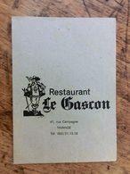 Huy, Tihange,  Restaurant Le Gascon, Calendrier Gastronomique 1978, Menus - Menus