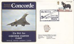 Concorde,vol Charter De La British Airways,Londres-Baie De Biscay,1978, - Briefe U. Dokumente