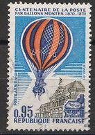 Timbre France Poste Aérienne Aviationplane Centenaire De La Poste Ballon Montgolfière N° Yvert PA 45 De 1971 Oblitéré - 1960-.... Used