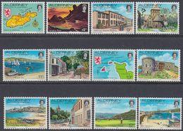 Alderney 1983 - Definitive Stamps: Sights Of Alderney - Mi 1-12 ** MNH - Alderney