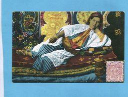 MAROC -1913 Carte Femme  Allongée*-Affranchissement Poste Chérifienne 1913  -pour Françe - Morocco (1956-...)
