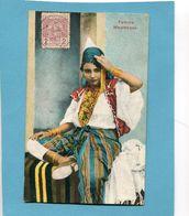 MAROC -1913 Carte Femme Mauresque*-Affranchissement Poste Chérifienne 1913  -pour Françe - Locals & Carriers