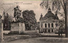 ! Alte Ansichtskarte Frankfurt Am Main , Bismarckdenkmal, Schauspielhaus - Frankfurt A. Main