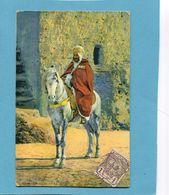 MAROC -1913 Carte Un Caïd Cavalier  *-Affranchissement Poste Chérifienne 1913  -pour Françe - Locals & Carriers