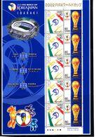 Soccer World Cup 2002 - JAPAN - Sheet MNH IBARAKI - Coupe Du Monde