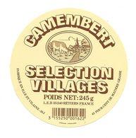 ETIQUETTE De FROMAGE..CAMEMBERT Fabriqué En ILLE Et VILAINE (35-J)..Selection Villages - Fromage