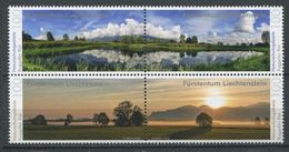 264 - LIECHTENSTEIN 2016 - Yvert 1754/57 - Paysage Etang Prairie - Neuf ** (MNH) Sans Trace De Charniere - Liechtenstein