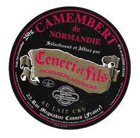 ETIQUETTE De FROMAGE..CAMEMBERT De NORMANDIE Fabriqué Par VALLEE SA à BERNIERES D'AILLY (14)..Affineurs CENERI Et FILS - Fromage