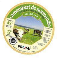 ETIQUETTE De FROMAGE..CAMEMBERT De NORMANDIE (Calvados 14)..FROMI - Fromage