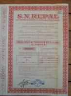 ALGERIE- NON EMIS - S.R. REPAL : RECHERCHE ER EXPLOITATION DES PETROLES EN ALGERIE - OBLIGATION 20 000FRS - 1959 - Shareholdings