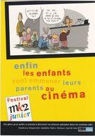 D2139 CARTE PROGRAMME FESTIVAL MK2 JUNIOR - LISTE DES FILMS DIFFUSÉS AU CINEMA - 29 AVRIL AU 1er SEPTEMBRE 1998 - Programmes