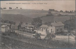 Chassigny Sous Dun , Train En Gare Du Chemin De Fer - Francia