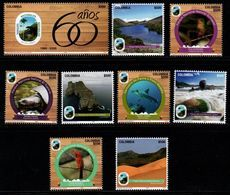 A229A - KOLUMBIEN - 2020- MNH- NATURAL PARKS ORGANIZATION, 60 YEARS- BIRDS/SHARK/BEAR/LAGOON - Colombia