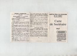 Carte De Sociétaire 1967 Pêche Pisciculture Du Lac D'Annecy Jalin Au Fil Du Fier Denizot - Vecchi Documenti
