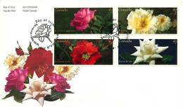 2001 Roses  From Booklet Sc 1911-14 - 2001-2010