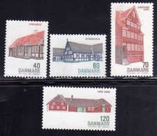 DANEMARK DANMARK DENMARK DANIMARCA 1972 DANISH ARCHITECTURE ARCHITETTURA DANESE COMPLETE SET SERIE COMPLETA MNH - Ungebraucht
