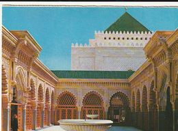 Carte Postale. Maroc. Rabat. Mausolée Mohamed V. Grande Cour Intérieure De La Mosquée. Etat Moyen. - Monumentos