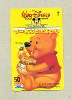 Carte Téléphonique Telephone Card Japan Japon Asie Asiatique Asia Asian Walt Disney Winnie L'Ourson Miel Abeille TB.Etat - Disney