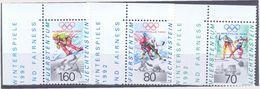 Liechtenstein, Olympiade 1992, Michel 1030-2** - Invierno 1992: Albertville