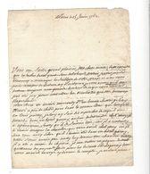 Lettre 1762 à Mademoiselle D'Abbadie Chez Sa Mère La Présidente D'Abbadie à Pau - Autógrafos