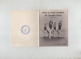 Carte Cours De Danse Classique Dumont AFMDC Annecy 1968 1969 Association Maîtres De Danse Classique - Vieux Papiers