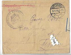 ENVELOPPE Ayant Contenu Une Correspondance Provenant D'un Camp Allemand En 1914 GOTTINGEN - Documents Historiques
