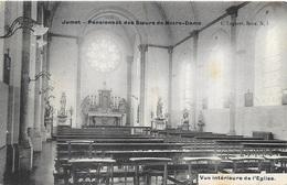 Jumet NA83: Pensionnat Des Soeurs De Notre-Dame. Vue Intérieure De L'Eglise 1910 - Charleroi