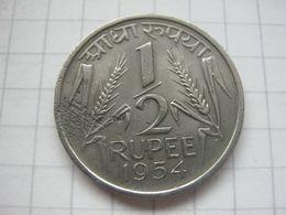 India , 1/2 Rupee 1954 - Inde